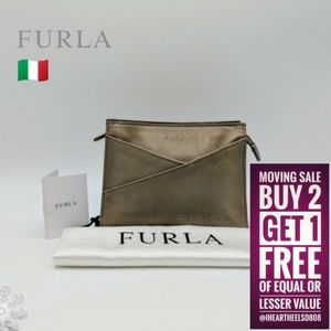 FURLA Taupe Saffiano Leather Bag